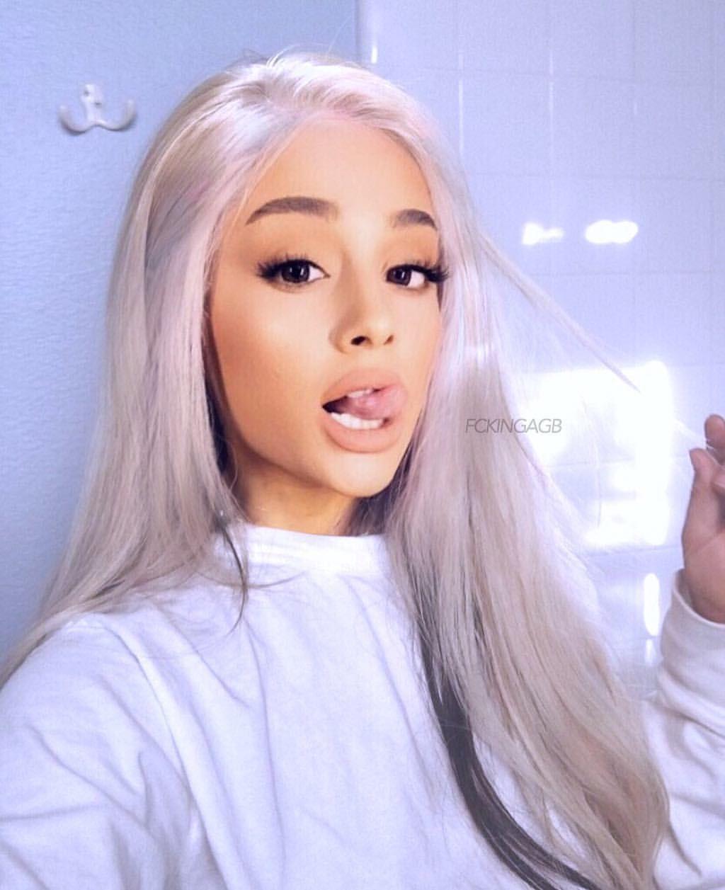Ariana Grande White Hair