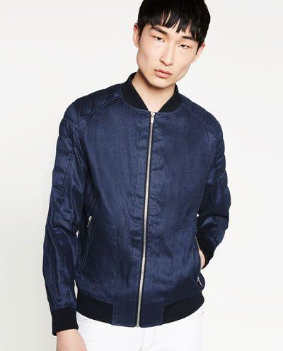 ea4ac54a9 LINEN BOMBER JACKET from Zara | Fashion for life | Bomber jacket ...