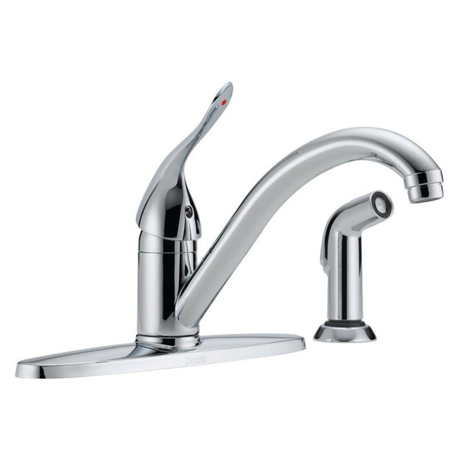 Delta Classic 400lf Hdf Single Handle Kitchen Faucet With Side