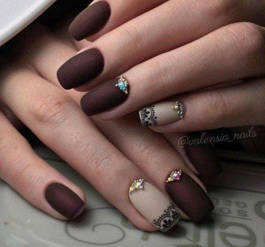 Art Simple Nail Hair Nails And Makeup