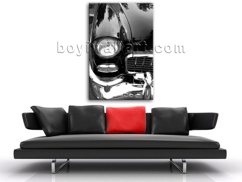 Elegant designed 1-panel canvas print on artist canvas with car in modern style. It is available in numerous sizes to fit any size room!