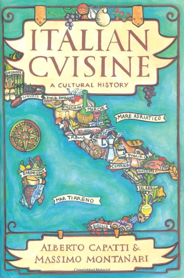 Italian Cuisine: A Cultural History (Arts and Traditions of the Table: Perspectives on Culinary History) by Alberto Capatti & Massimo Montanari / TX723 .C283251 2003 / http://catalog.wrlc.org/cgi-bin/Pwebrecon.cgi?BBID=6920553