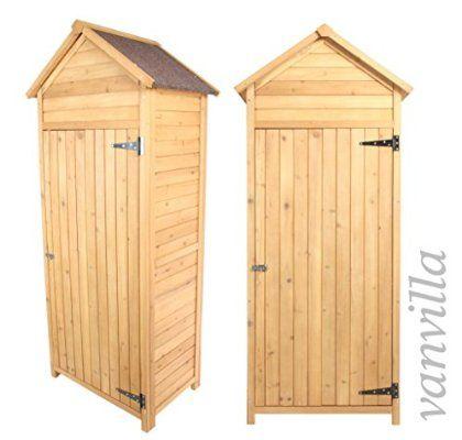 Gartenschrank Holz vanvilla geräteschuppen holz satteldach naturfarben gerätehaus