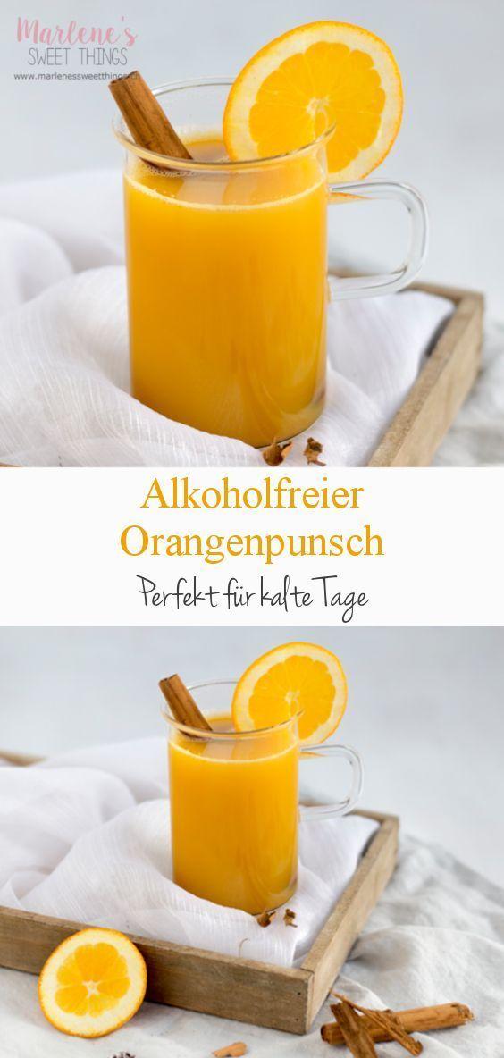 Alkoholfreier Orangen Weihnachtspunsch #nonalcoholic