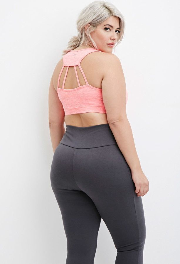 972535b830 Plus Size Laddered-Cutout Sports Bra - really pretty.... Not sure it would  help at all as a  sports bra  - but nice under a slouchy tee around home or  ...