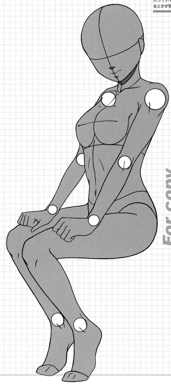 Anatoref seated and laying manga female pose reference