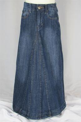 For Dd Aviv Girl Long Jean Skirt Modestly Me Pinterest Skirts