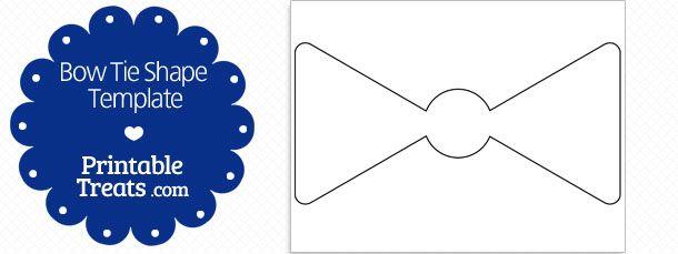 Free Printable Bow Tie Shape Template Shape Templates Template