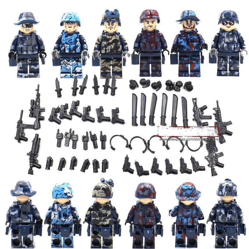 Model Building 6pcs Star Wars Super Heroes Military Gun Battle Shield Army Building Blocks Action Model Bricks Toys For Children Blocks