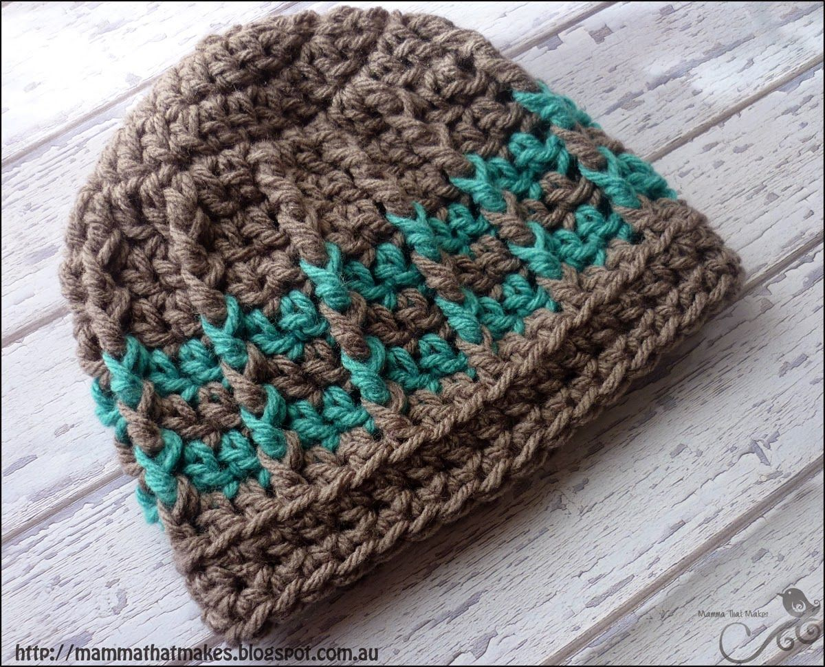 Mamma That Makes Michael Beanie   Free Crochet Pattern   Crochet ...