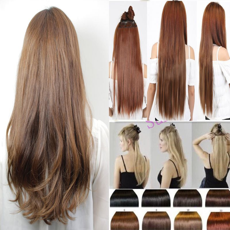 5clips Mega Hair Synthetic Clip In Hair Extension Straight 222630