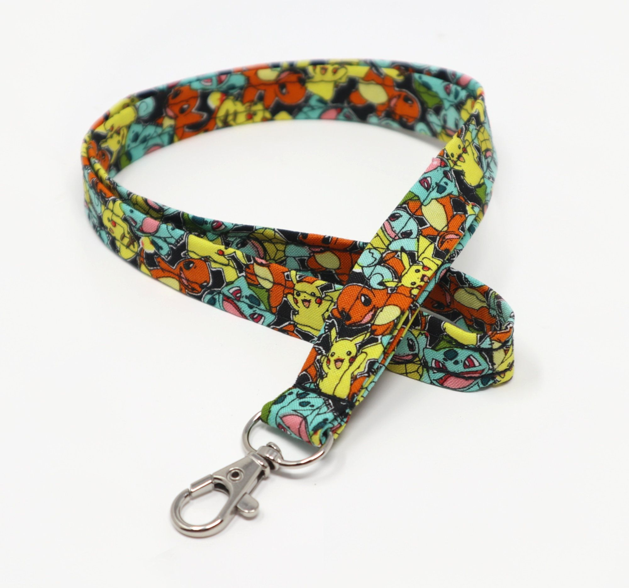 """Bohemian Hippy Boho Pattern 1/"""" Wide ID Lanyard with Lobster Claw Clasp"""