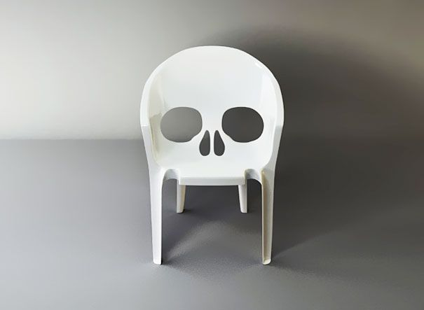"""Skull Chair   Designed by Pool, from the """"Nouvelle Vague (New Wave), the New French Domestic Landscape"""" exhibition at the Milan Design Furniture"""