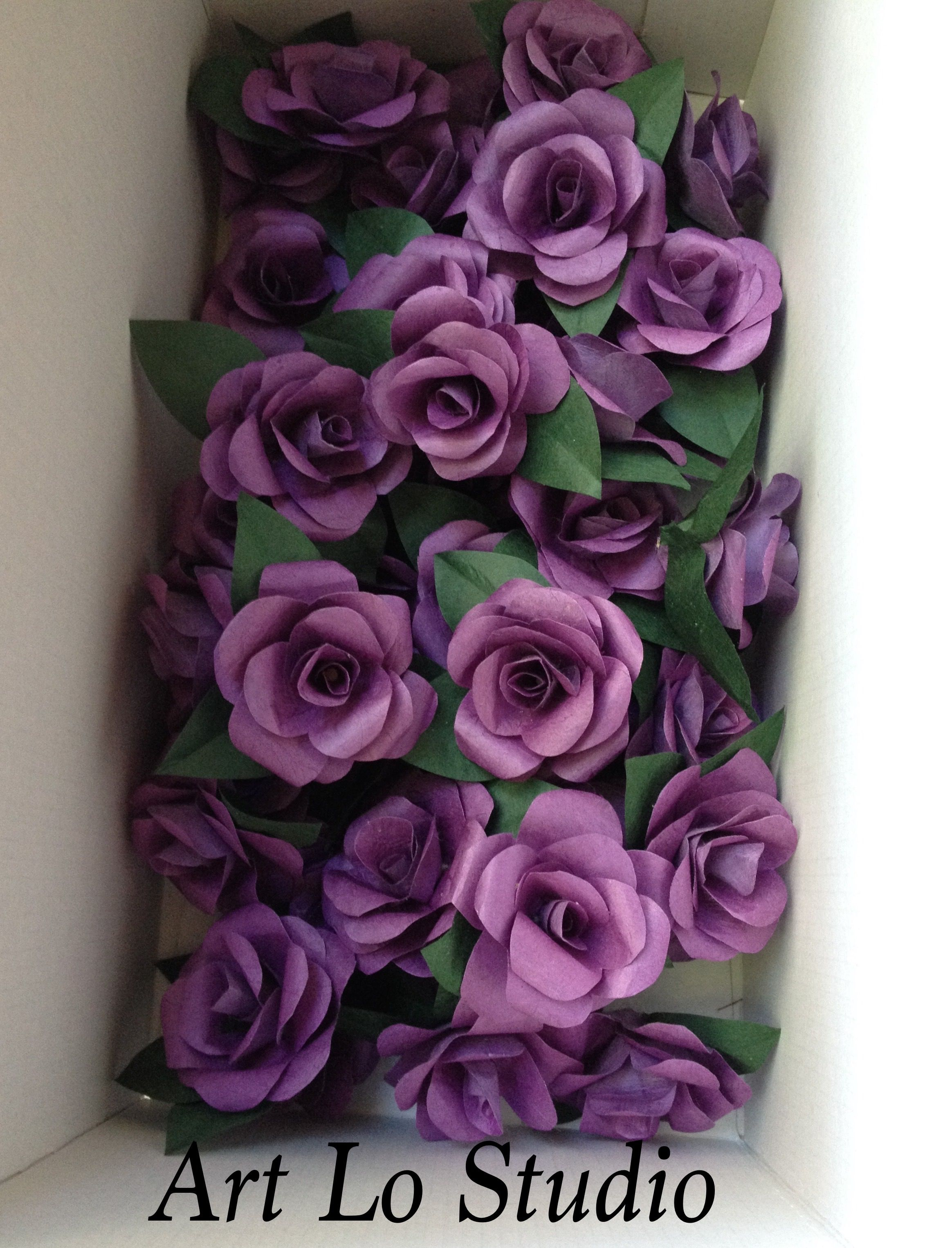 Lilac paper flowers for a wedding my work pinterest make these beautiful and realistic paper roses you can use almost any paper that you have at home old book pages wrapping paper scrapbook paper izmirmasajfo