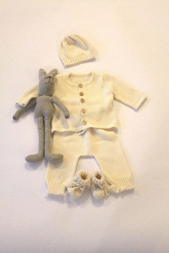 Baby Boy Coming home Baptism outfit 4 piece set - hat, jacket, long pants and booties