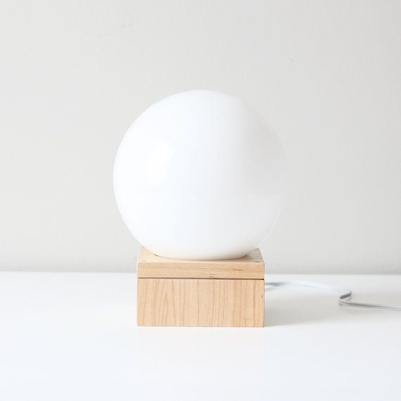 modern orb table lamp / glass sphere accent light | Laur's and ...