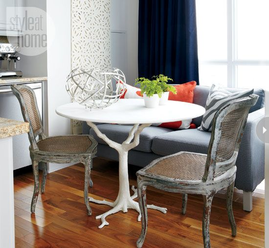 Cane chairs, table, everything!