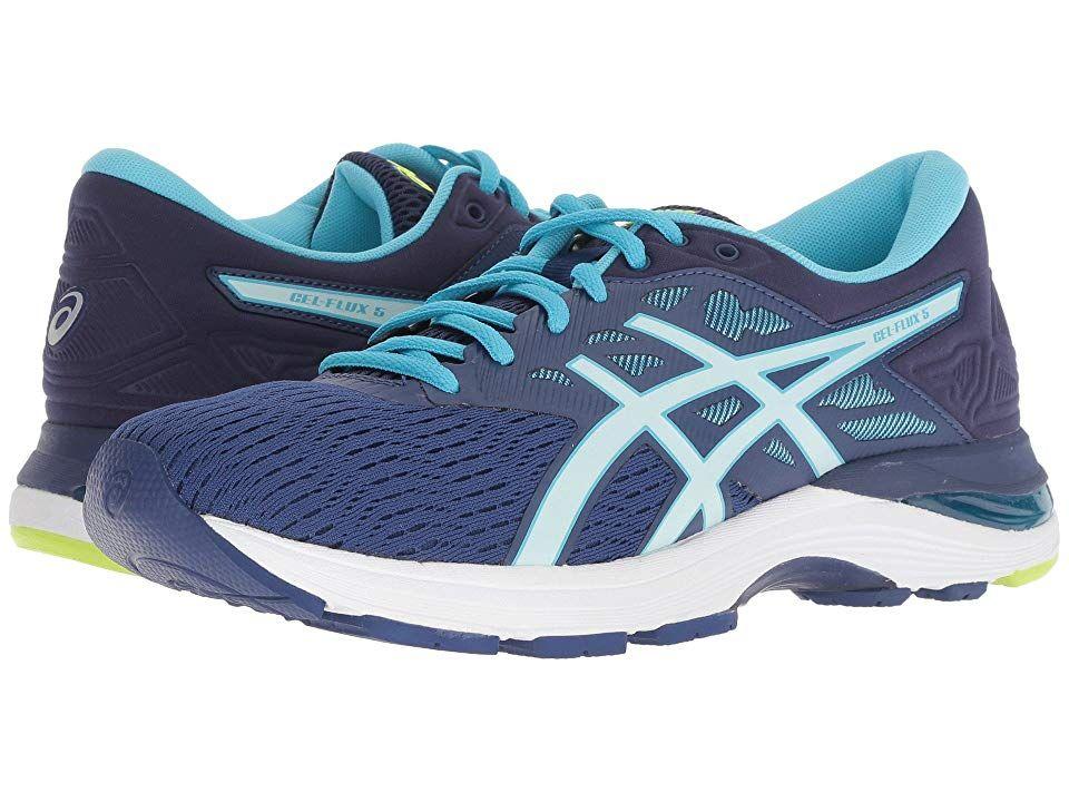 Asics Gel Flux 5 Women S Running Shoes Blue Print Soothing Sea Asics Asics Gel Womens Running Shoes