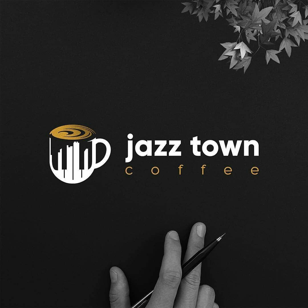 Piano Coffee Clever Modern Creative Logo Design Vector Illustration Digital Art Follow Us Logoprof Logo Design Creative Logo Design Business Logo Design