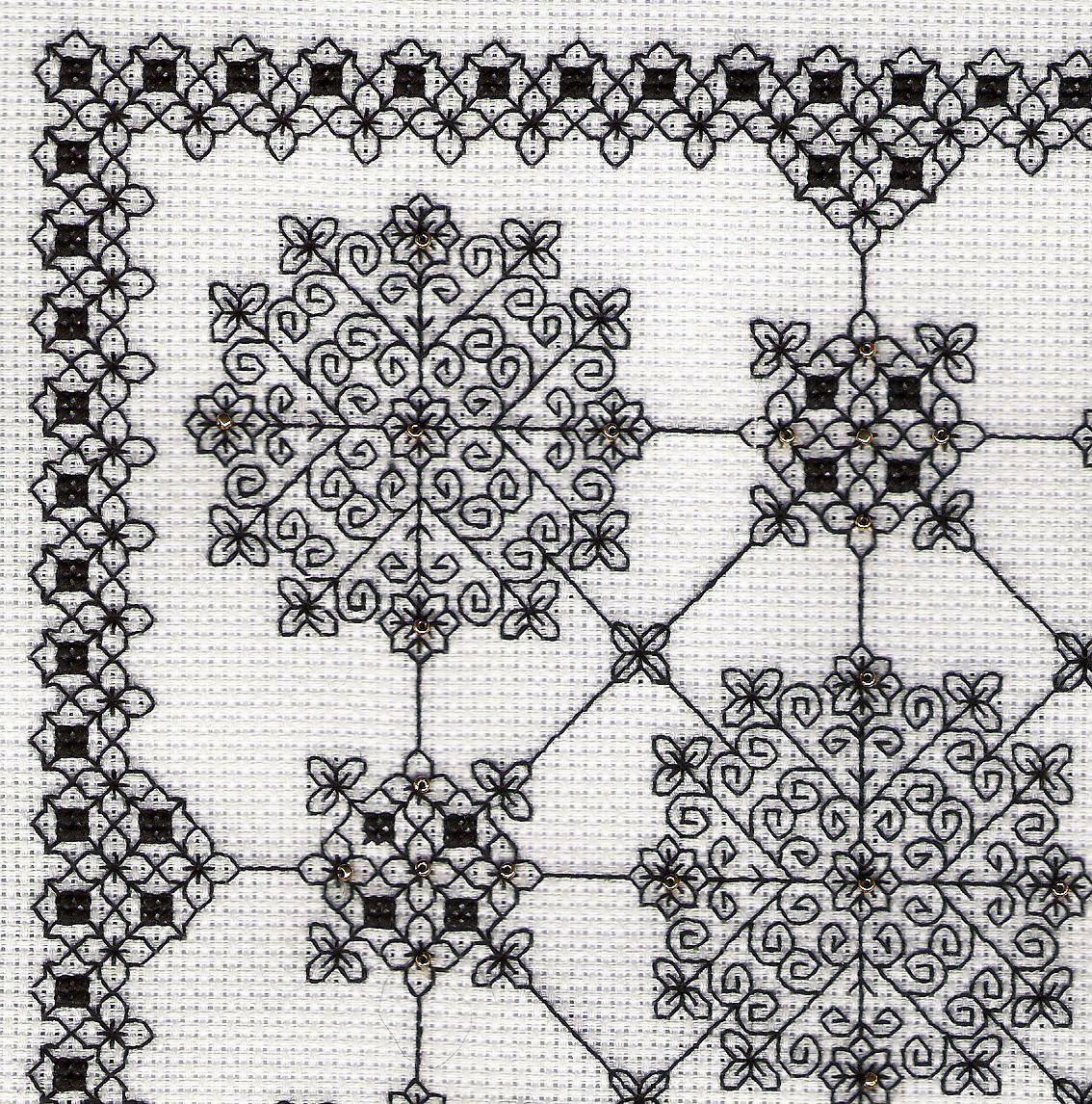 Simplicity - blackwork design by Liz Almond of Blackwork Journey ...