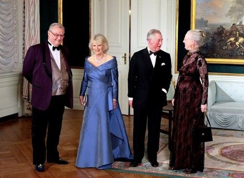 Prince Consort Henri of Denmark, Camilla Duchess of Cornwall, Charles Prince of Wales, and Her Majesty Queen Margrethe II of Denmark