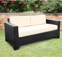 Cambridge Black Synthetic Rattan Sofa