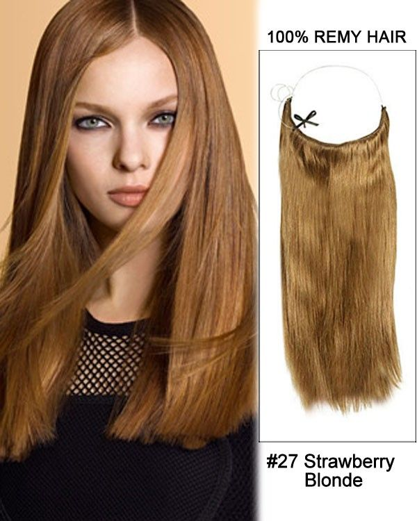 14 32 Inch Straight Secret Human Hair Extensions 27 Strawberry