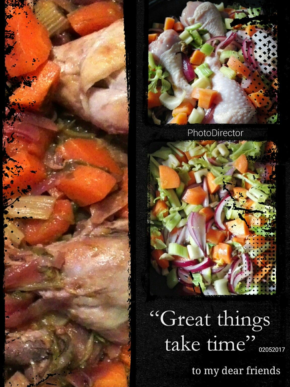 Vinegar chicken with vegetables. Soon on panecioccolata.it