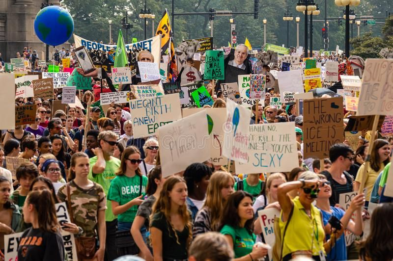Global Climate Strike Thousands Of Teens Are Marching Downtown In Chicago Stock Aff Thousands Teens Strike Global C Chicago Usa Downtown Climates