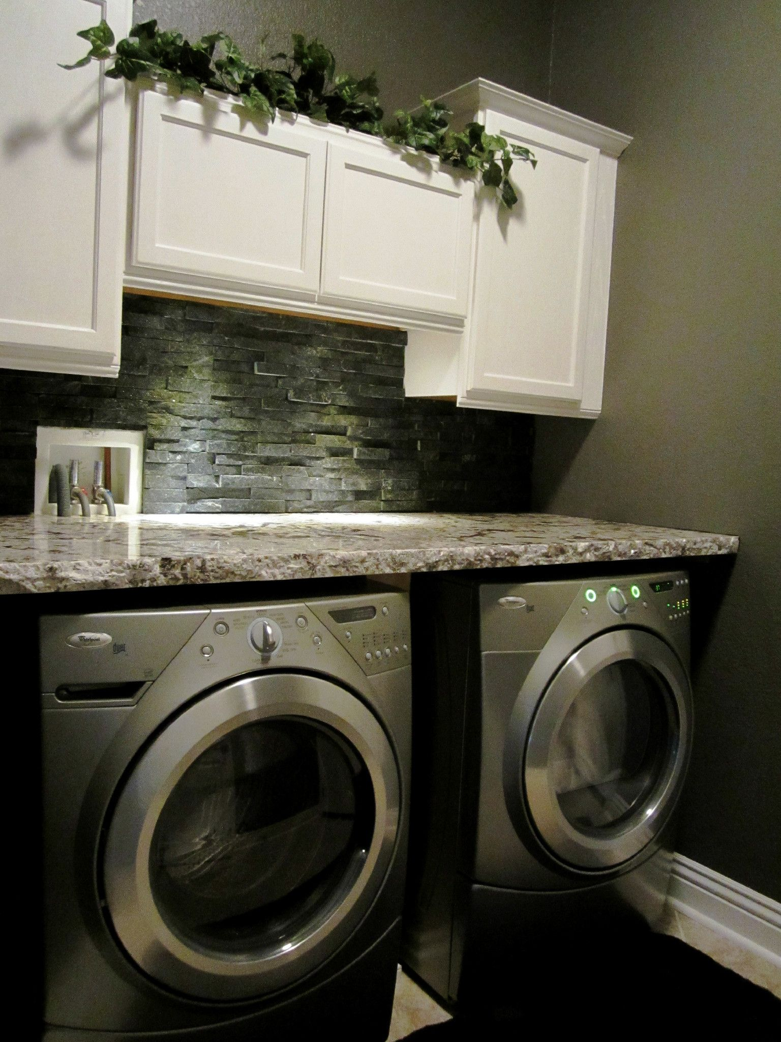 My Laundry Room Granite Countertop Stone Backsplash
