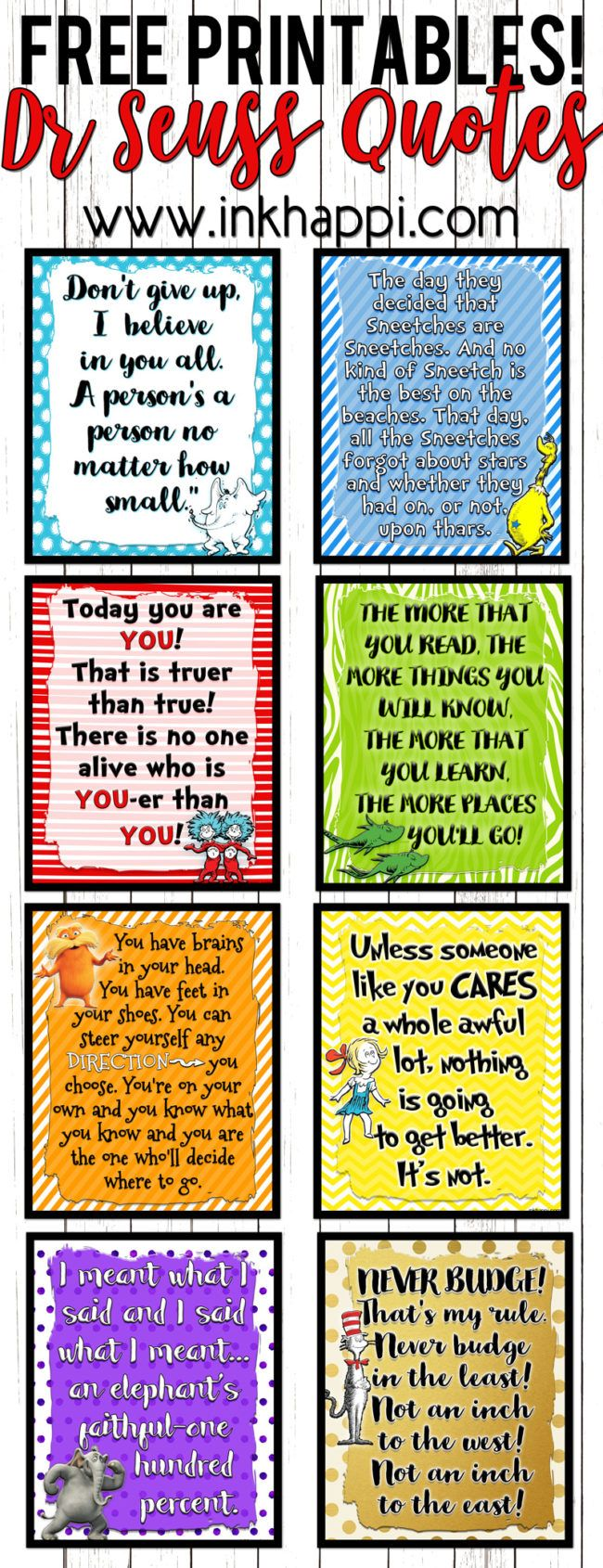 Lets Celebrate a birthday with these Dr Seuss Printables!