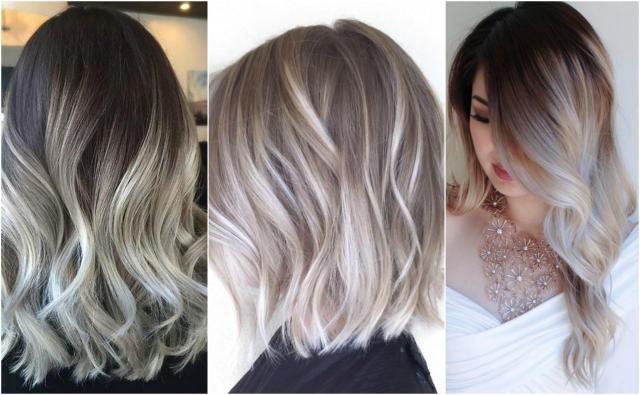 Hit Sezonu Popielate Ombre Galeria Fryzur Włosy