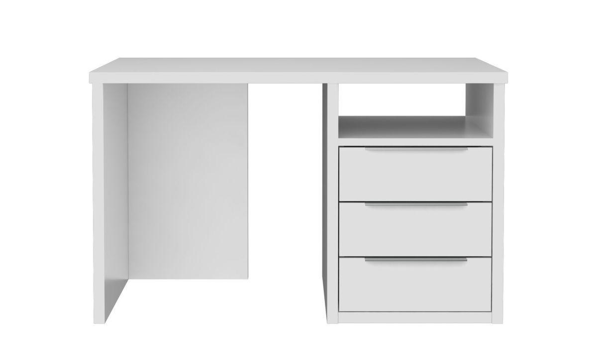 Eckschreibtisch weiß matt  Schreibtisch R Weiss Matt Woody 77-01221 weiss matt lackiert Holz ...