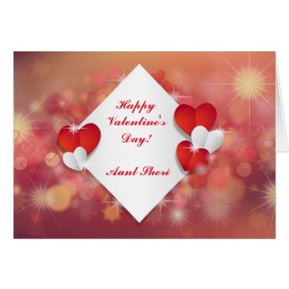 Happy ValentineS Day Aunt Sheri Card  Holiday Card Diy