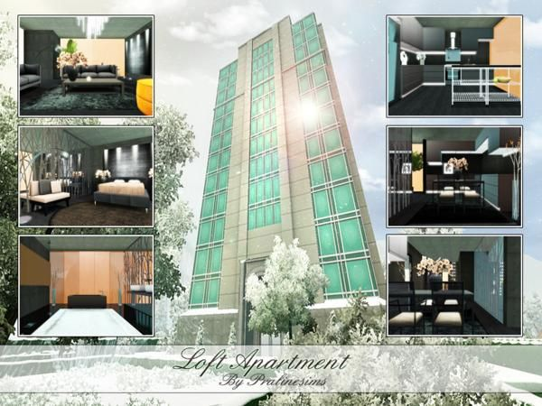 Loft Modern And Luxurious Apartment By Pralinesims Sims 3 S Cc Caboodle Luxury Apartments