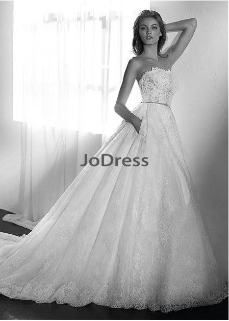 cf0fb7dccfc Jodress Lace Wedding Dress T801525337615