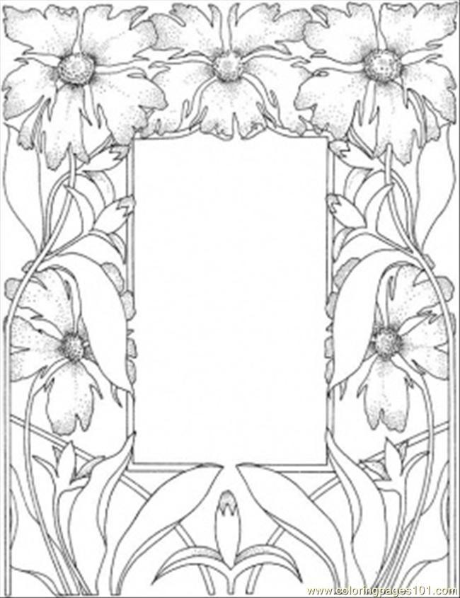 Picture Frame Wood Burning Template Desenhos De Flores