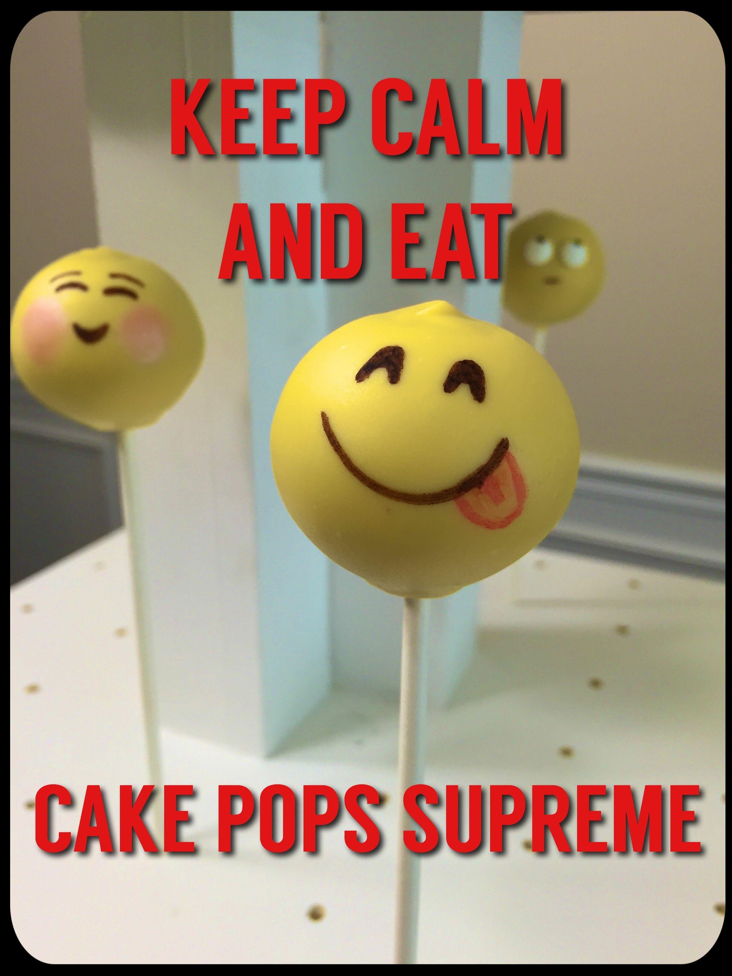 Emoji cake pops | Cake Pops Supreme | Cake Pops, Emoji cake pops