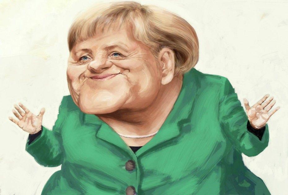 Caricatura de Angela Merkel.