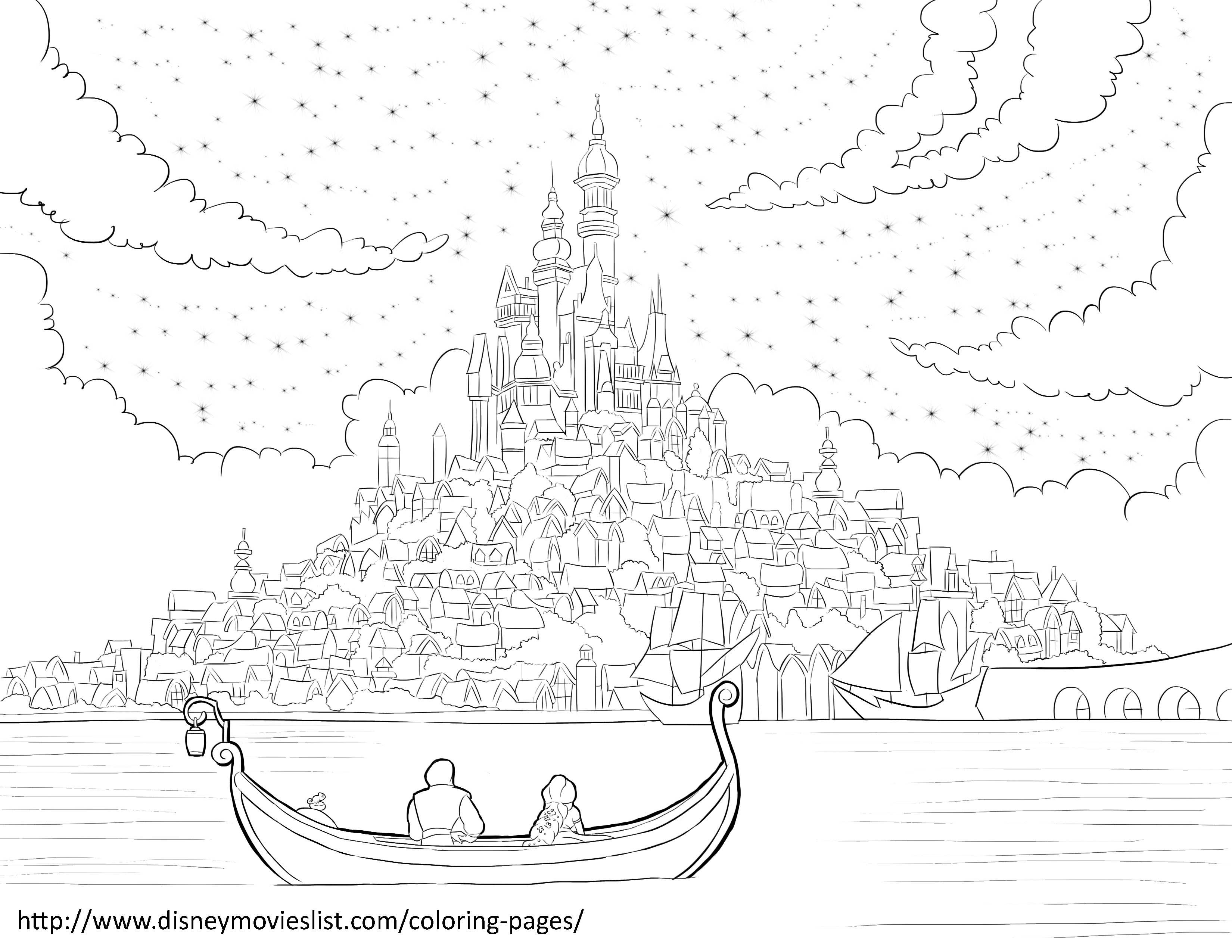 12 Best Disney Coloring Pages Images On Pinterest Disney S - tangled coloring pages pdf