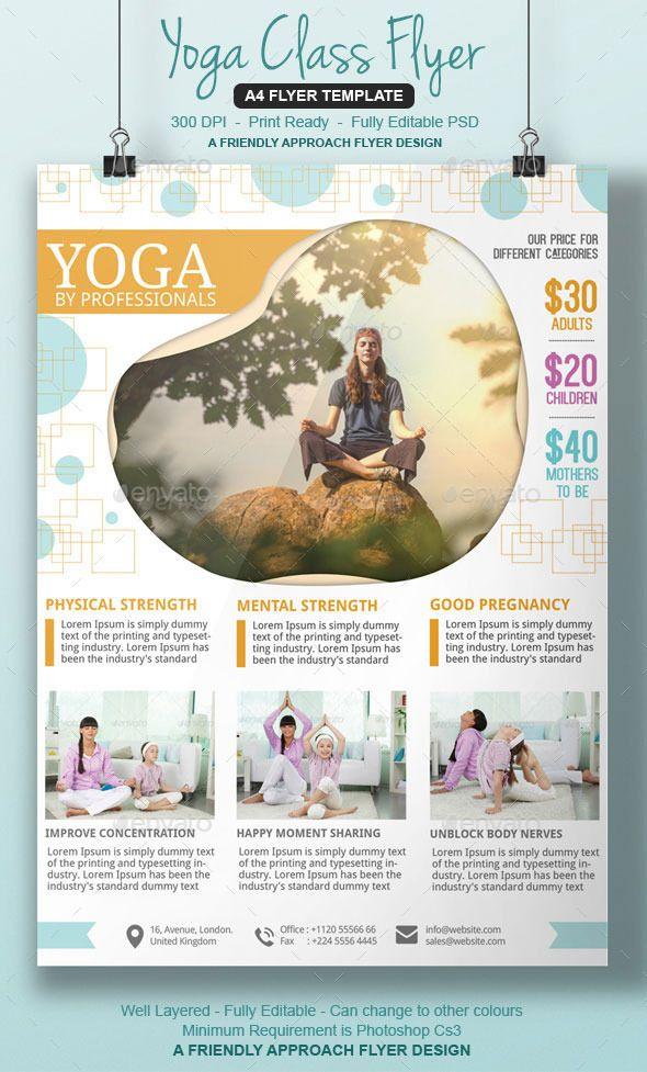 Yoga Studio Flyer Yoga Studio Flyer Template Photoshop Psd