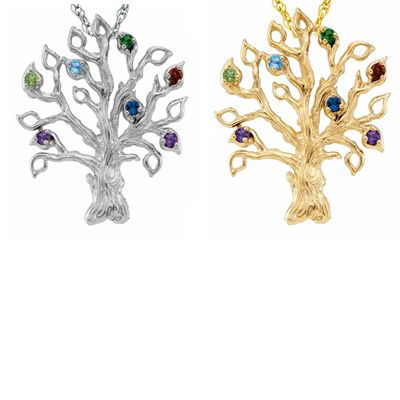 Mothers simulated birthstone tree pendant in 10k white or yellow mothers simulated birthstone tree pendant in 10k white or yellow gold 3 14 aloadofball Gallery