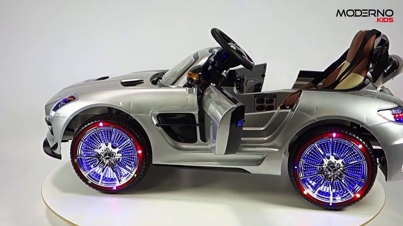 Toys car for boy  Mercedes Benz SLS AMG Ride On Toy Car with Remote Control Silver