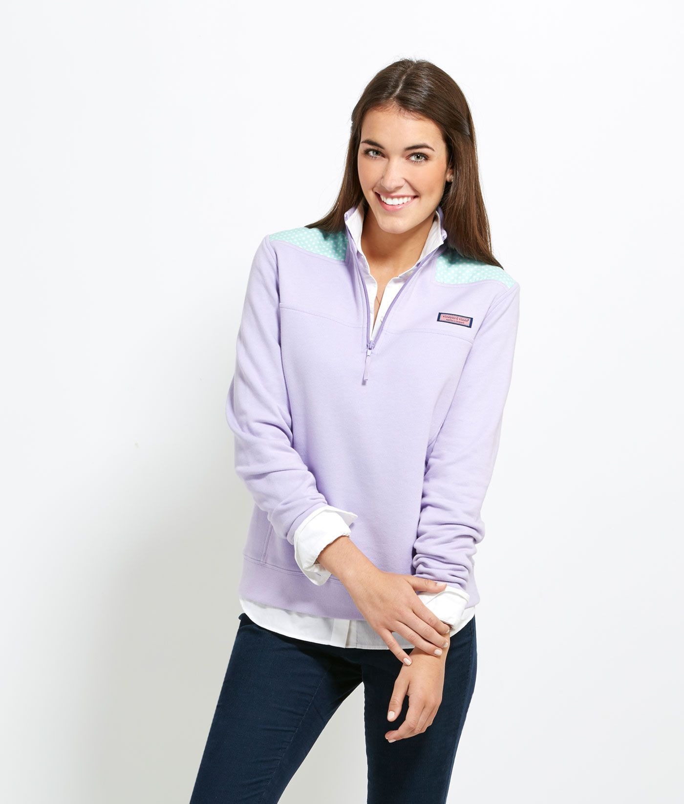 16d12b6ad6b007 Women's Pullovers: Polka Dot Shep Shirt for Women - Vineyard Vines ...