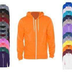 Am497 American Apparel Unisex Flex Fleece Zip Hooded Sweatshirt American Apparel