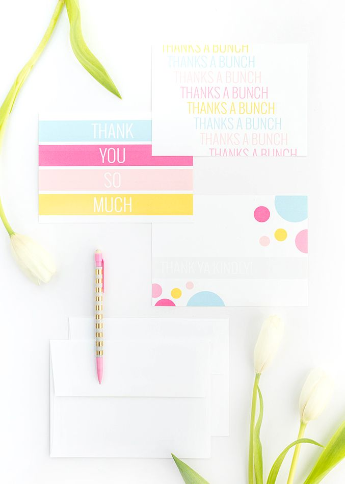 DIY Printable Thank You Cards Gift Ideas