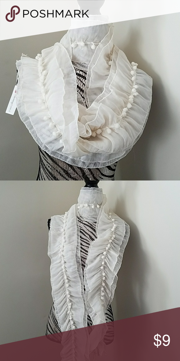 fc04c887b81b Charming Charlie scarf Shear cream colored, never worn Charming Charlie  Accessories Scarves & Wraps