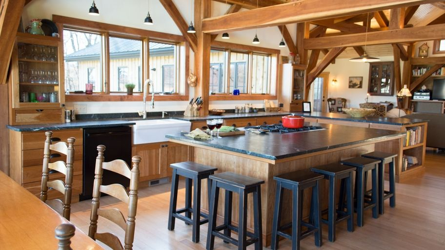 How much do timber frame homes cost to build kitchen - How much does a kitchen designer cost ...