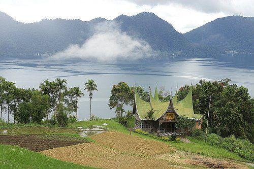 Danau Maninjau Sumatra Barat Indonesia Pemandangan Bali Danau Toba