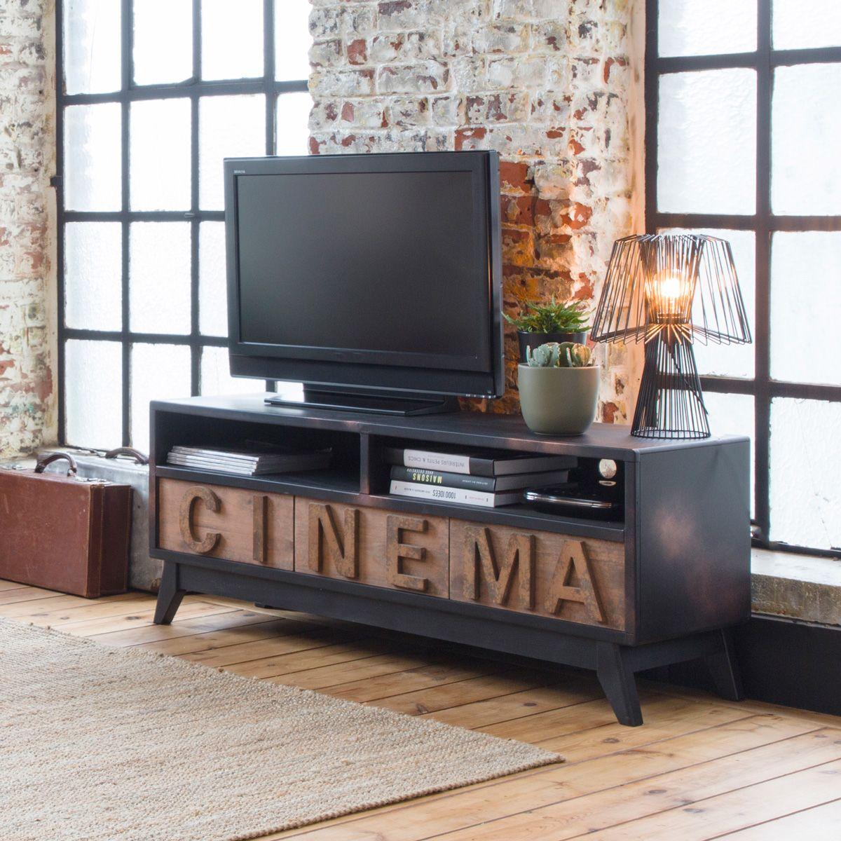 Meuble Tv Mdf Cinema 2 Niches 3 Tiroirs Mobilier De Salon Meuble Tv Meuble